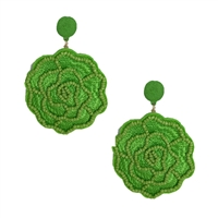 Frida Bright Floral Statement Drop Earrings