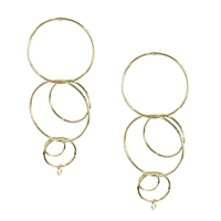 Jewelry Collection Clique Interlocking Circle Drop Earrings
