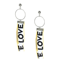 Jewelry Collection Love Ribbon Drop Earrings