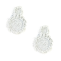 B Jewelry Collection Izu Beaded Circle Drop Earrings