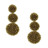 B Jewelry Collection Aine Two Tone Beaded Triple Drop Earrings