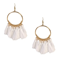 Jewelry Collection Blanca Tassel Hoop Earrings