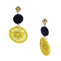 Jewelry Collection Vesa Woven Circle Drop Earrings