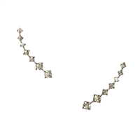 Delicate Sparkler Crystal Ear Climber Pins Crawler Earrings