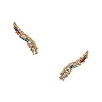 Brilliant Sparklers Crystal Ear Climber Pins Crawler Earrings