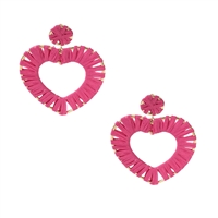 Jewelry Collection Nerine Raffia Heart Statement Earrings