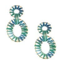 Jewelry Collection Kai Raffia Wrapped Statement Drop Earrings