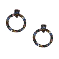 Jewelry Collection Kaleidoscope circle drop earrings