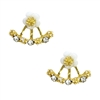 Jewelry Collection Dainty Daisies Ear Jackets Stud Earrings
