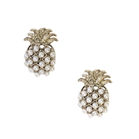 Pearly Pineapple Stud Earrings