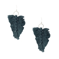 Ava Knotted Tassel Statement Drop Earrings