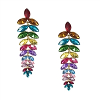 Versicolor Crystal Cascading Drop Earrings