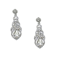 Brigitte Elegant Crystal Drop Earrings Bridal Jewelry