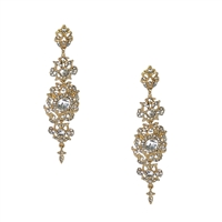 Raquel Statement Crystal Chandelier Earrings