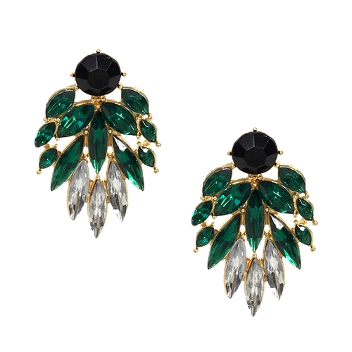 Jewelry Collection Camilla Crystal Fan Drop Earrings