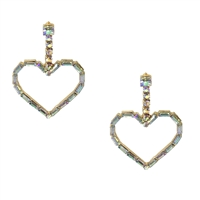 Jewelry Collection Sadie Iridescent Heart Drop Earrings