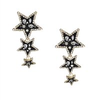 Jewelry Collection Super Star Trio Drop Earrings
