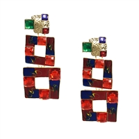 Jewelry Collection Kesi Geo Square Drop Earrings