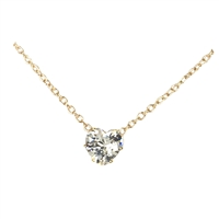 Tiffani Tiny Crystal Heart Pendant Necklace