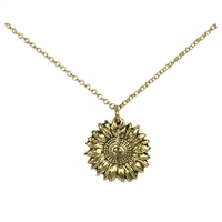 Hidden Message You Are My Sunshine Sunflower Locket Necklace, Two-Tone