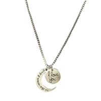 I Love You... To The Moon & Back Penadnt Necklace