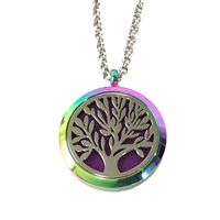 Tree of Life Aromatherapy Diffuser Locket Necklace