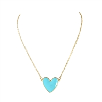Jewelry Collection Levi Enamel Heart Pendant Necklace