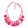Jewelry Collection Pretty Poms Beaded Tassel Statement Necklace