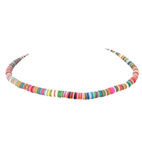 Maui Colorful Polymer Chips Choker Necklace