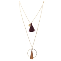 Jewelry Collection Wren 2 Layer Pendant Necklace