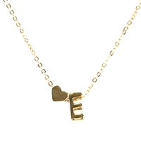 Jewelry Collection Floating Initial & Heart Mini Pendant Necklace
