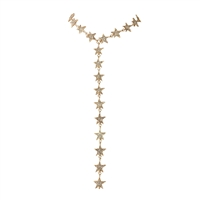 Pave Star Statement Choker Y-Necklace