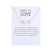 Pearls of Love Simulated Pearl Pendant Necklace