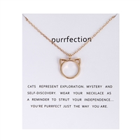 Purr-fection Cat Ear Pendant Necklace