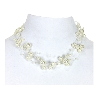 Jewelry Collection Simulated Pearl Illusion Necklace