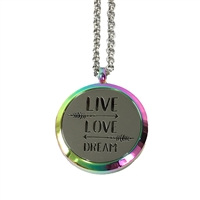 Live Love Dream Aromatherapy Diffuser Locket Necklace