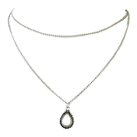 Moonstone Teardrop Double Layer Necklace