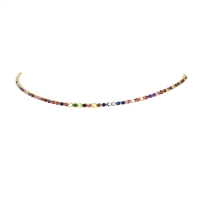 Brilliant Sparklers Prisma Crystal Tennis Choker Necklace