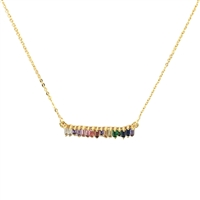 Brilliant Sparklers Prisma Crystal Bar Pendant Necklace,