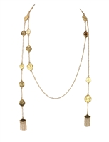 Jewelry Collection Long Beaded Tassel Necklace