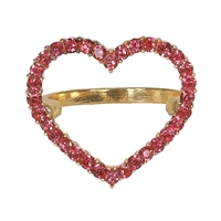 Amara Pave Open Heart Statement Ring Sparkler Band