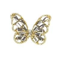 All a Flutter Butterfly Crystal Statement Ring