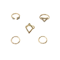 Trigon Triangle Stacking Rings Set of 5 Rings