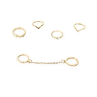 Daily Stacking Rings Set of 5 Rings