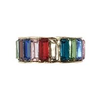 Brilliant Sparklers Rainbow Baguette Band Ring