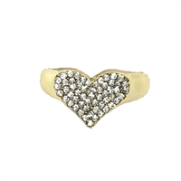 Amore Pave Heart Ring Sparkler Band