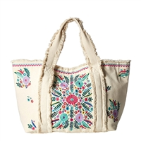 Steven By Steve Madden Kade Colorfully Embroidered Tote