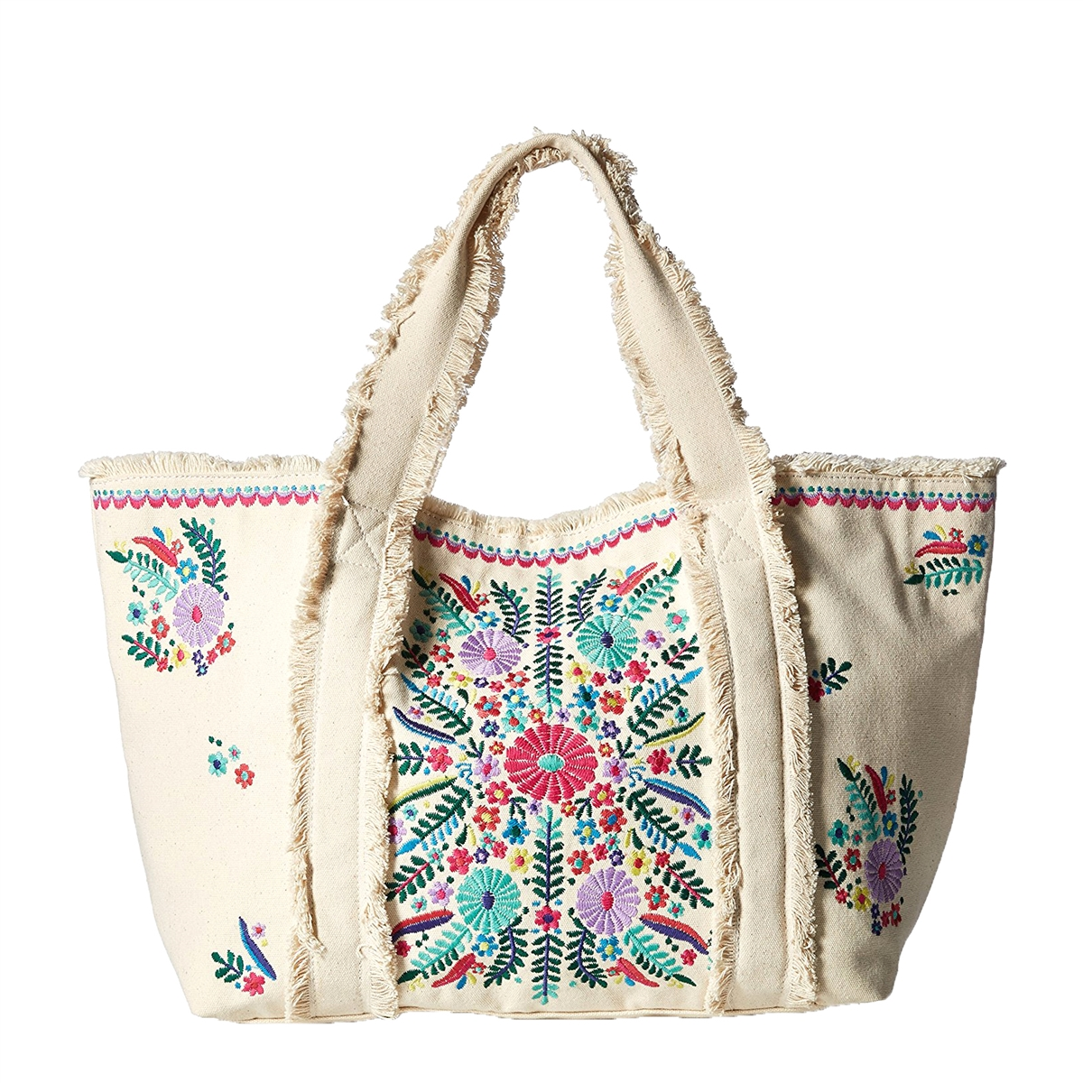 e951aa29635 Steven By Steve Madden Kade Colorfully Embroidered Tote, Natural