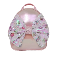 Miss Gwens Unicorn Snacks Sequins Bow Mini Backpack