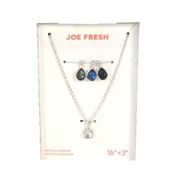 Joe Fresh Interchangeable Teardrop Pendant Necklace Set of 4